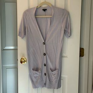 Ann Taylor short sleeve long cardigan